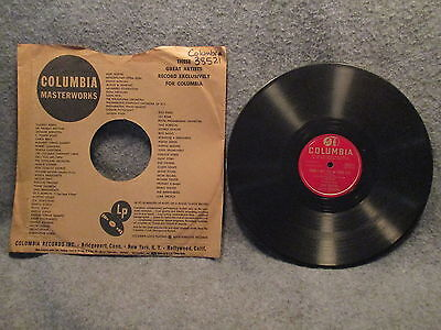 """78 RPM 10"""" Record Tony Pastor Baby Talk & Theres Yes! Yes! In Your Eyes 38521"""