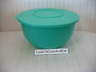 Tupperware Impressions Classic 32 Cup Bowl Sea Green New Mixing Storage Serving