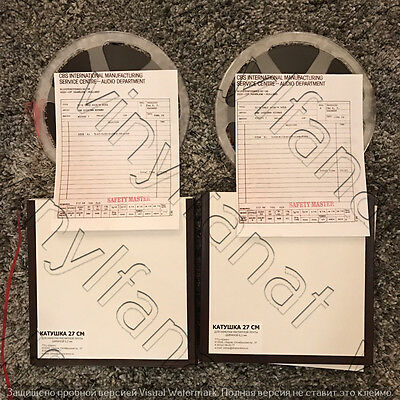 Reel To Reel Tape 2 Track 15 Ips 1-St Generation Copy Cb$