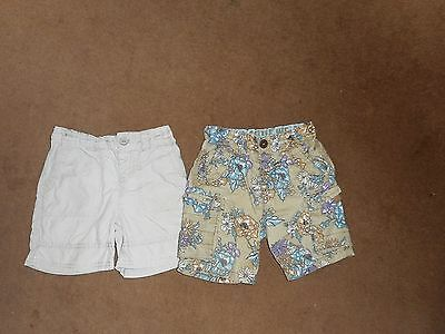 2 PAIRS OF BABY BOYS SHORTS 12-18 Months (M & S and NEXT) In Great condition