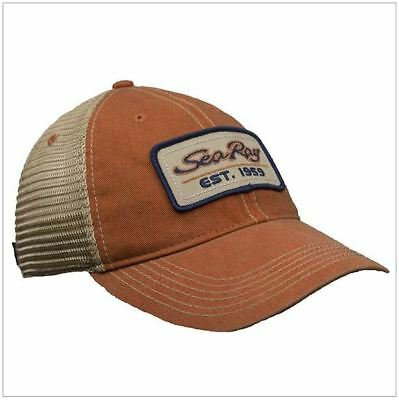 SeaRay Boats Orange/Tan Legacy Mesh Back Unstructured Hat Cap