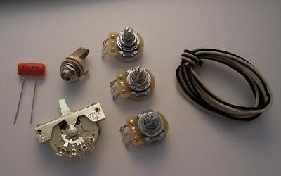 Wiring Kit for FENDER STRATOCASTER Strat CRL Switchcraft CTS OrangeDrop USA Made