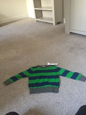 Bnwt Green/ Blue Striped Jumper 18-24 Mths