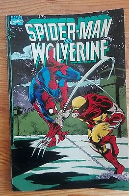 Marvel Graphic Novel Spider-Man Vs Wolverine