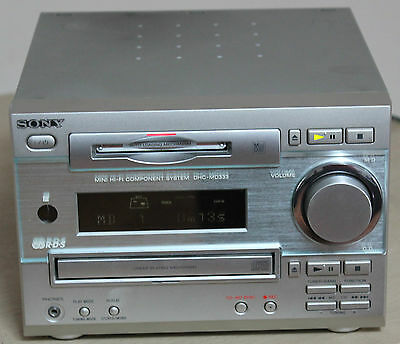 Sony Hcd-Md333 Cd Minidisc System - Compact Disc - Mini Disc - Md Disk - Amp