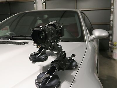 Heavy duty suction cup mount for all DSLR cameras, Canon, Nikon, Sony