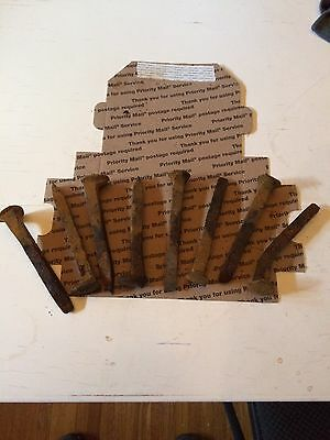 "8Vintage Railroad Spikes Antique Blacksmith Craft Train Track RR 6.5"" LOT OF 8"