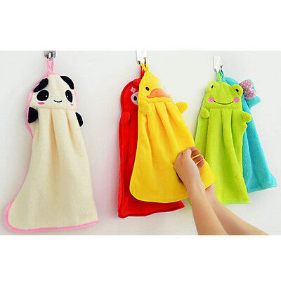 Soft Cartoon Absorbent Hand Dry Towel Lovely Towel For Kitchen Bathroom Use