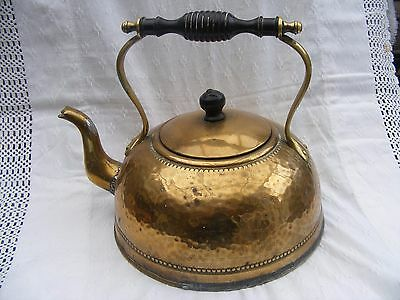 Lovely design, Victorian brass kettle with ebony handle.