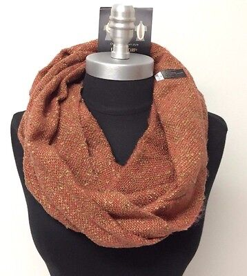 Women's Winter Warm 2-Circle Cowl Long Infinity Scarf Wrap loop Soft, Rust/Camel