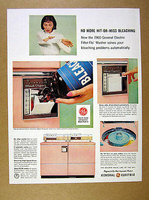 1960 GE General Electric pink Washer & Dryer 5x photo laundry vintage print Ad