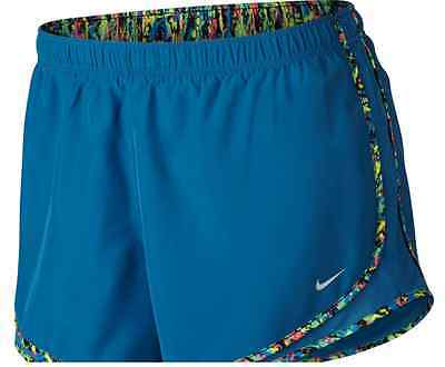 Womens NIKE DRI-FIT Tempo shorts PLUS Size 2x 2xl xxl  Track running blue multi