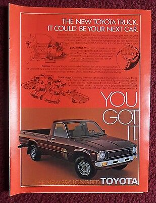 1979 Print Ad Toyota SR5 Long Bed Sport Pickup Truck ~  Could Be Your Next Car