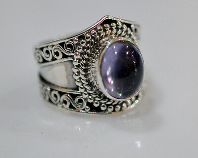 100% Color Change Lab Created Alexandrite 925 Solid Sterling Silver Ring # 3-13
