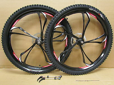 "26"" Mountain Bike MTB Magnesium Alloy 8/9/10 Speed Disc Brake Wheel Set CST Tyre"