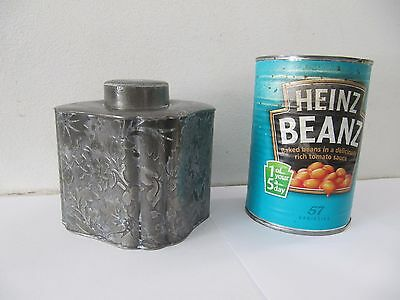Antique Victorian Pewter Tea Caddy Sturges
