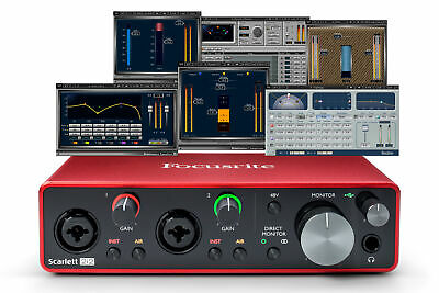 Focusrite Scarlett 2i2 (3rd Gen) Interface Waves Musicians 2 iZotope Bundle