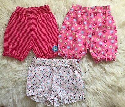 Baby Girl Pyjama Shorts ~ Bottoms ~ George Age 9-12 Months