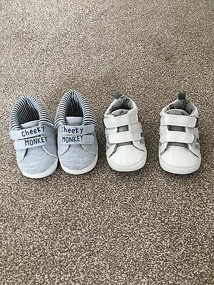Baby Boys Shoes. 2 Pairs, Size 3-6 Months. Next / Matalan.