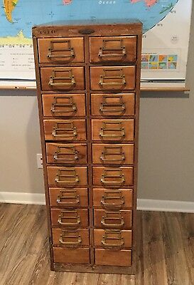 Vintage Mid Century Library Card Catalog Remington Rand. 20 Drawers