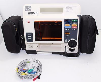 Lifepak 12 Biphasic 12 Lead ECG, Analyze  ( no printer)