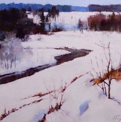 "Original Pastel Drawing ""March in Adirondacks"" Signed Unframed"