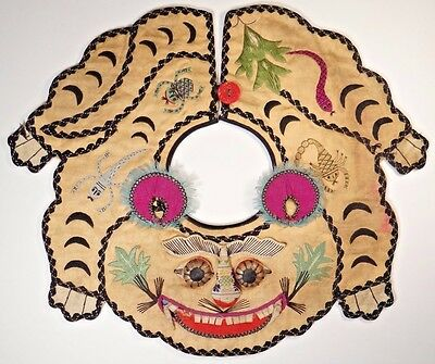 19th C. Qing [Ching] Dynasty. Chinese Silk Embroidered Tiger Collar