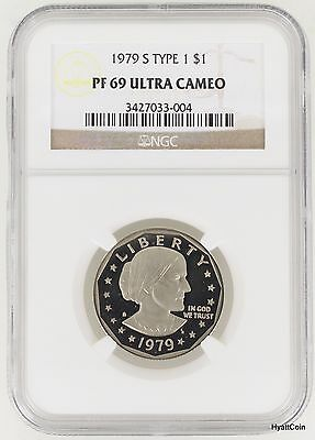 1979-S Type 1 Proof Susan B Anthony Dollar $1 NGC PF69 Ultra Cameo