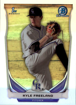 2014 Bowman Chrome Draft Baseball Parallel Singles (Pick Your Cards)
