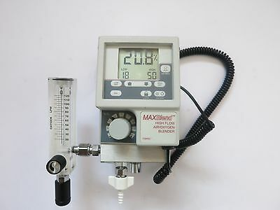 Maxtec Maxblend High Flow Air/oxygen Mixer Blender Monitor O2 Sensor Tube Meter