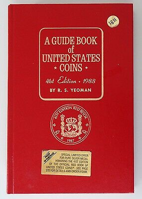 1988 Red Book A Guide Book of United States Coins Price Guide 41st Edition