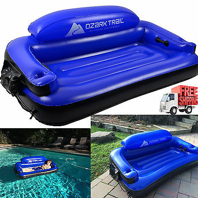 Inflatable Comfort Couch Kids Outdoor Pool Lounge Heavy Duty Water Fun Summer
