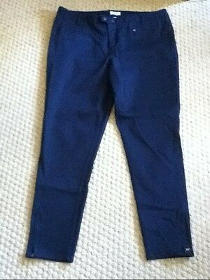 Ladies Liz Claiborne CLassic Fit skinny navy blue pants size 14