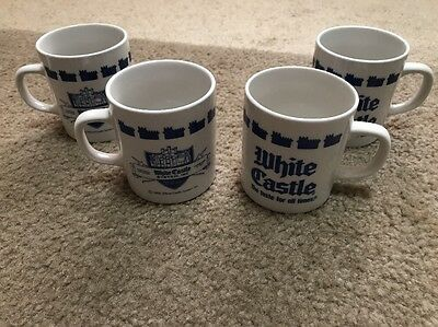 KB30 Lot Of 4 White Castle Restaurant Promotional Mugs EUC 1990