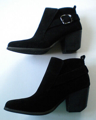 Women's Black Man Made Suede Booties Size 10 New