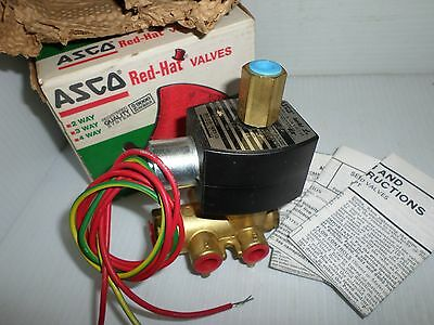 """**NEW IN BOX** ASCO EF8345G1 4-Way SOLENOID VALVE 1/4"""" 120Vac **FAST SHIPPING**"""