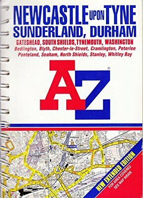 A-Z Street Atlas of Newcastle-upon-Tyne,... by Geographers' A-Z Map Spiral bound