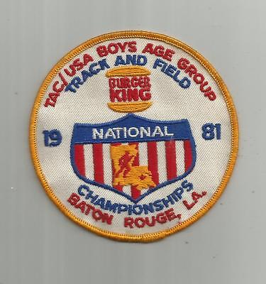 1981 Burger King Track And Field National Championships Baton Rouge La Patch 4In