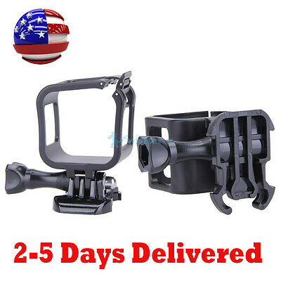 Low Profile Housing Frame Cover Case Mount Holder for GoPro Hero 4 5 Session USA