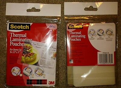 3M Corp Scotch Thermal Laminating Pouches, 3.74 Inches x 5.31 in. NEW 2 pgks 40