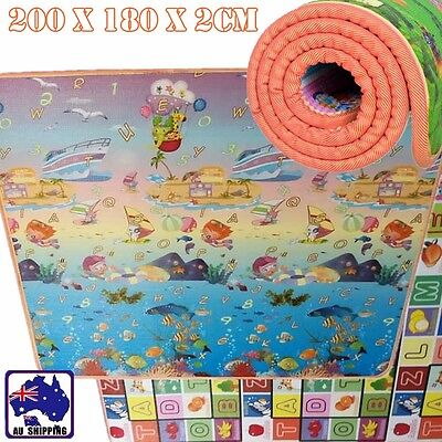 20mm 2mx1.8m Thick Baby Play Mat Floor Rug Picnic Cushion Crawling Kid OCUSH3204