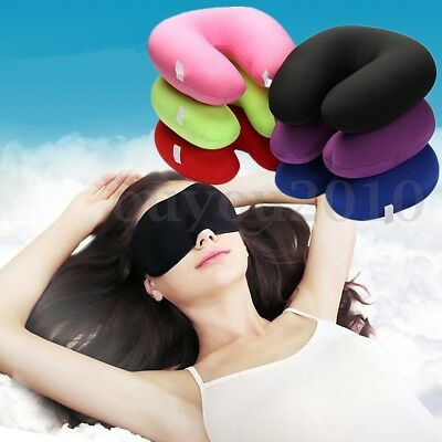 Microbeads U Shaped Travel Pillow Airplane Car Bus Comfort Neck Head Support New
