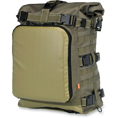 Biltwell Green EXFIL-80 MOLLE Tool Travel Motorcycle Luggage Backpack Sissy Bar