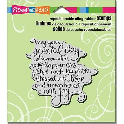 """Stampendous Cling Stamp 4.75""""X4.5"""" -Special Day"""