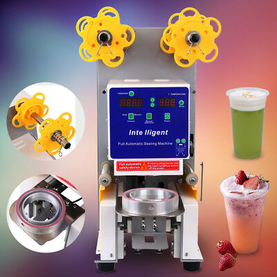 Electric Fully Automatic Cup Sealing Machine Restaurants Fruit Juice 750 Cups/hr