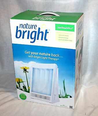 NEW Nature Bright SunTouch Plus Light Ion Therapy Lamp 10,000 LUX BRIGHT LIGHT