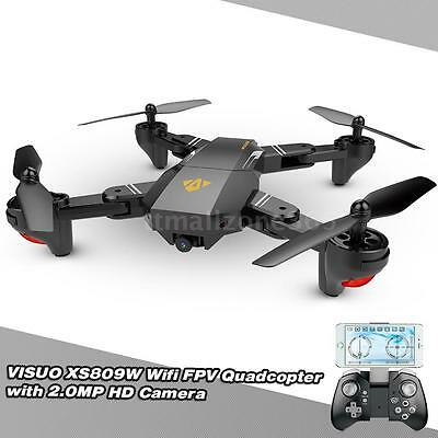 VISUO XS809W Wifi 2MP HD Camera Foldable 2.4G 6-Axis RC Quadcopter Drone Toys