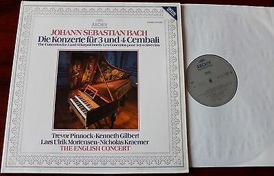 Archiv 2534001 Bach Concs For 3 & 4 Harpsichords Lp Pinnock Gilbert Nm W Germany