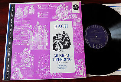 Bach Musical Offering Bwv 1079 Lp Munchner Ens. Vox Stdl 500.490 Nm- Usa