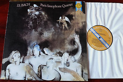 Cbs M 39514 Paris Saxophone Quartet Plays J.s. Bach Lp Nm Holland (1985)